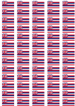 Hawaii Flag Stickers - 65 per sheet